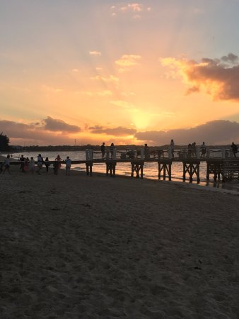 Beautiful sunset over the pier