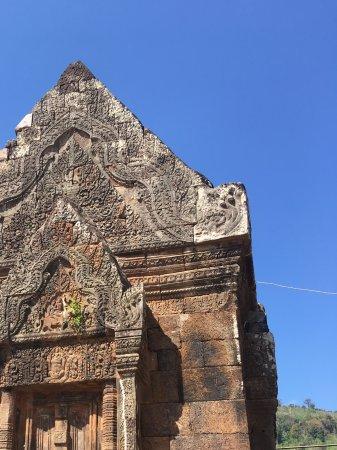 Champasak, Laos: Bezig goed te restaureren