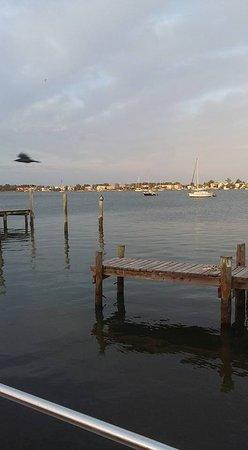 Cortez, FL: Earily Sunday morning over Tide Tables docks.