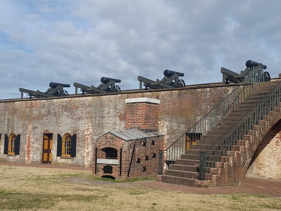 The cannons of Fort Macon