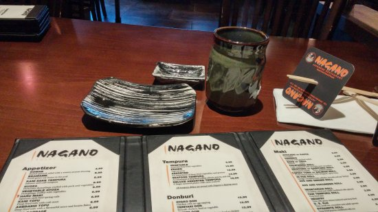 Coquitlam, Kanada: Nagano menu