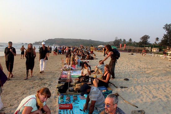 Beach Market At North Goa Arambol