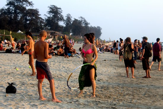 At North Goa Arambol Beach