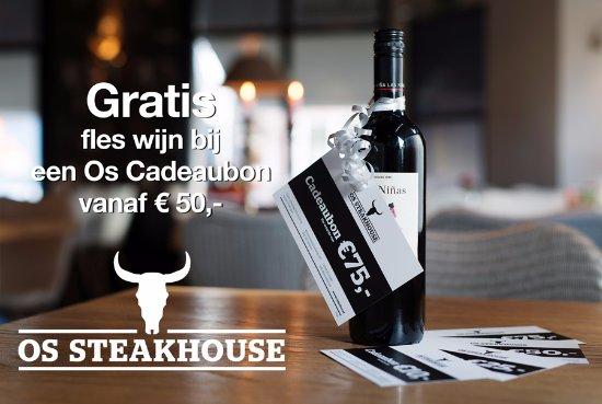 Heiloo, Paesi Bassi: De Os Steakhouse Cadeaubon: leuk om te geven en te krijgen!
