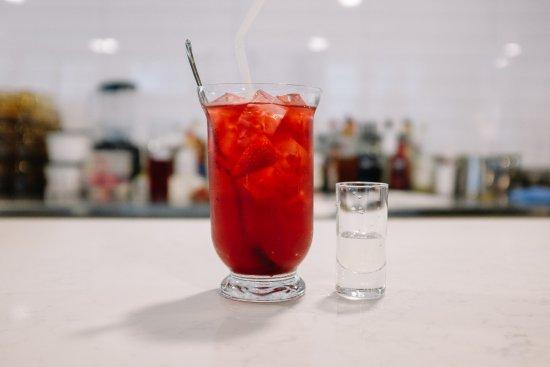 Prahran, Australia: Strawberry Rose Ice Tea