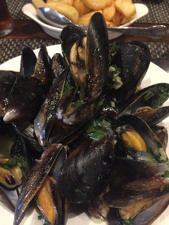 New Quay, UK: Yummy mussels