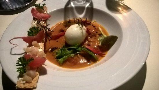 La Saline les Bains, Reunión: oeuf mollet sur une soupe de potiron