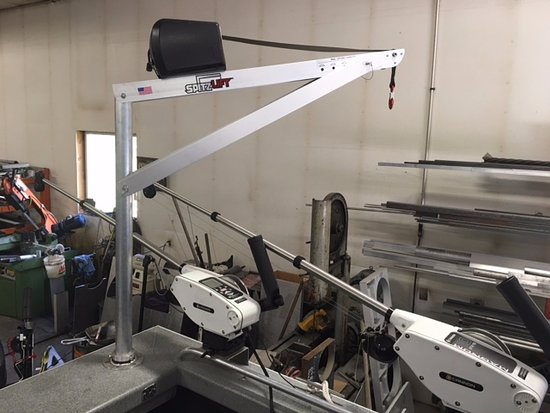 Whitefish, MT: Wheel Chair Hoist rigged up on 22' WeldCraft