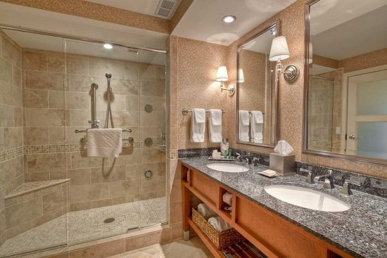 Hilton Lexington Downtown: Presidential Suite Walk in shower