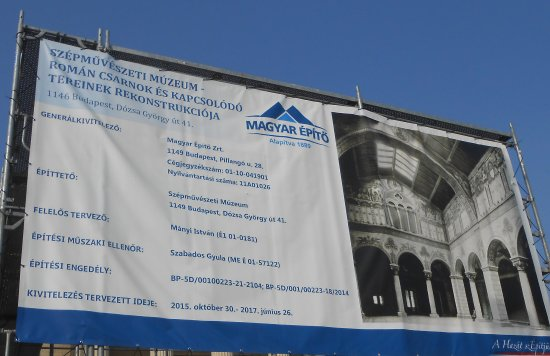Musée des beaux-arts de Budapest : To be finished by the end of June 2017