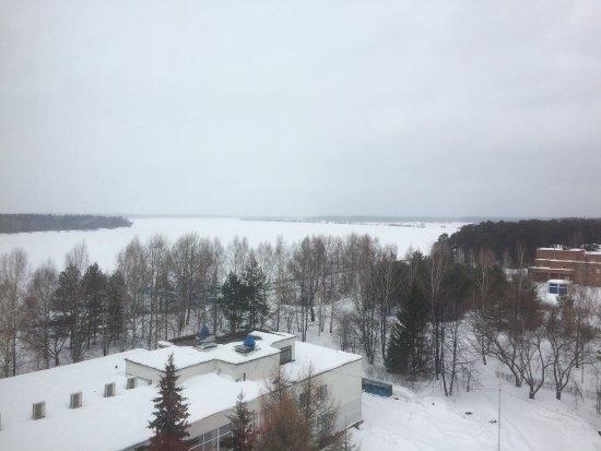 Ust-Kachka, Rusia: Вид из окна