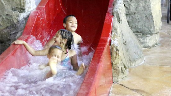 Baxter, MN: The red slide is great for smaller kids.