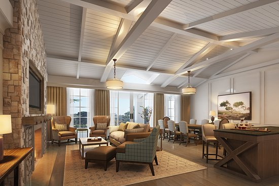 The Lodge at Pebble Beach: Fairway One Cottage Living Room