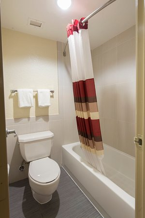 Red Roof Inn Houston - Brookhollow: Guest Bath