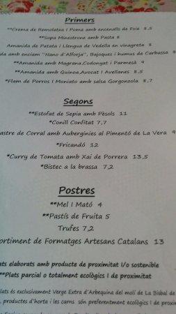 Restaurant La Cooperativa: la carta