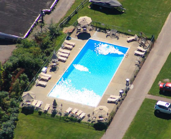 Weirs Beach, NH: Aerial View of Outdoor Pool