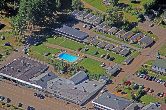 Weirs Beach, NH: Aerial View of Property