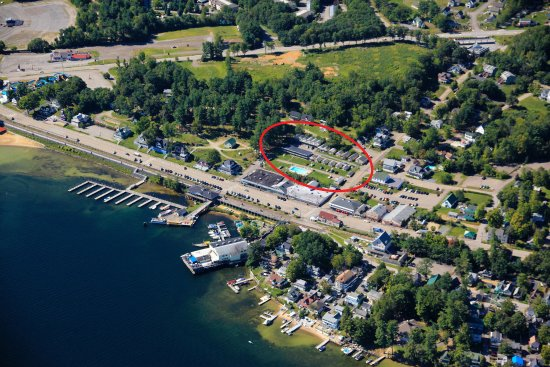 Aerial of Weirs Beach Lakeside Ave