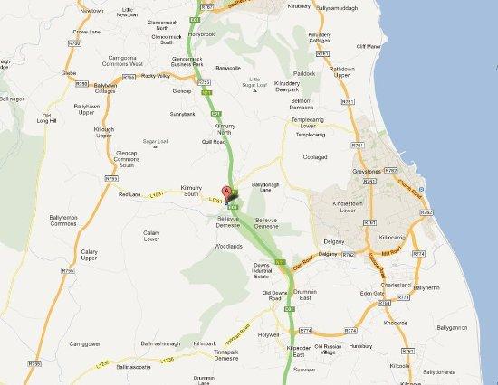 Glen Of The Downs, Irlanda: Map