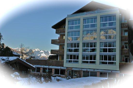 Graechen, Switzerland: Desiree in winter