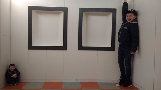 Ames Room - A distorted room that creates an optical illusion ...