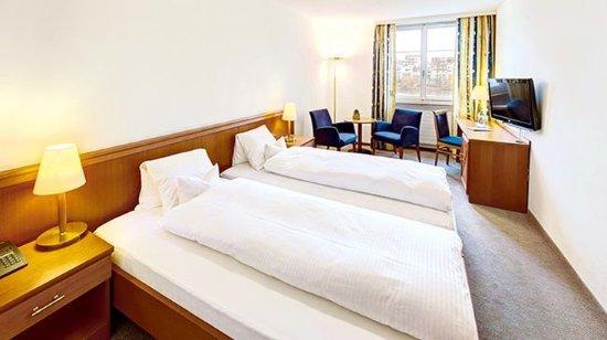 Rheinfelden, Switzerland: Double room with double bed