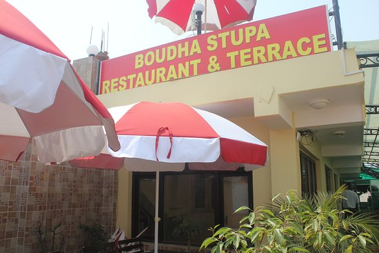 Boudha Stupa Restaurant & cafe: photo of our garden terrace.