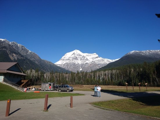 Les Rocheuses canadiennes, Canada : Mount Robson vom Visitor Center