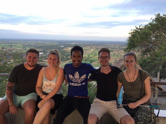 it's so happy with my client at Phnom Sampov Mountain(ship mountain) battambang city