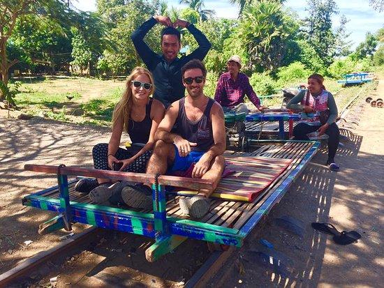 Battambang, Cambodja: at the bamboo train