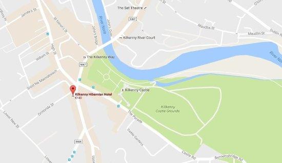 Kilkenny Hibernian Hotel: Map