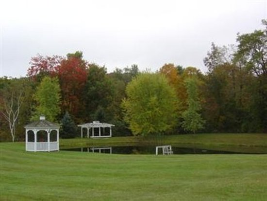 Inn at Clearwater Pond: A backyard gazebo offers quiet solitude