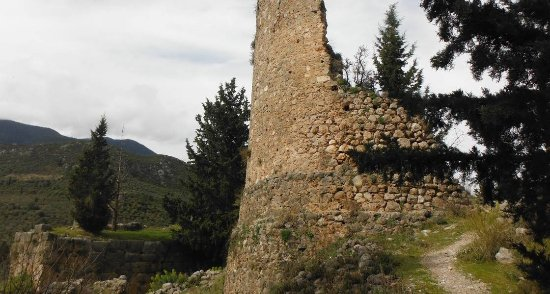 Amfissa, Grèce : Άποψη Κάστρου των Σαλώνων