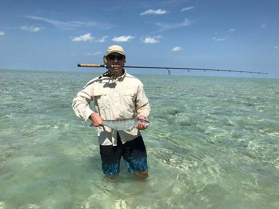South Caicos: bone fishing off property
