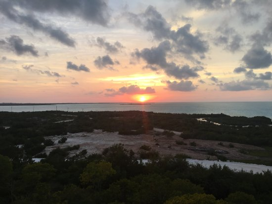 South Caicos: sunset view from the great house