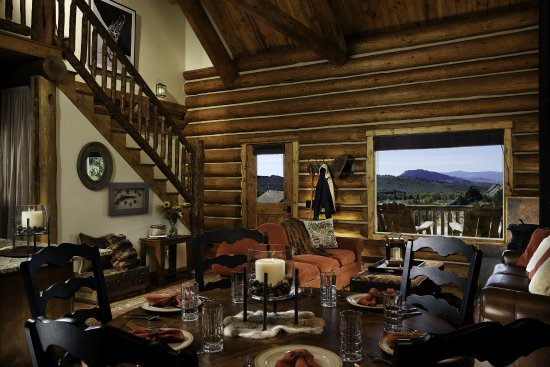Saratoga, WY: Sheriffs Cabin Residence Living Dining