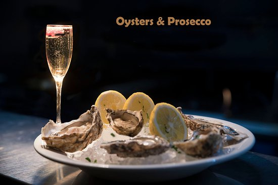 Marrocco's Italian:  Oysters and Prosecco is a very popular combination