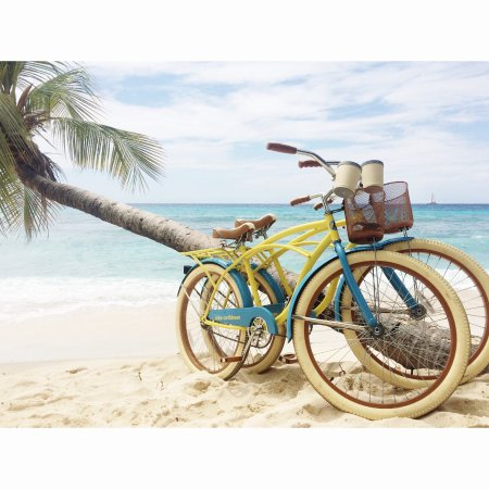 St. Lawrence Gap, Barbados: Beach Cruiser Bikes