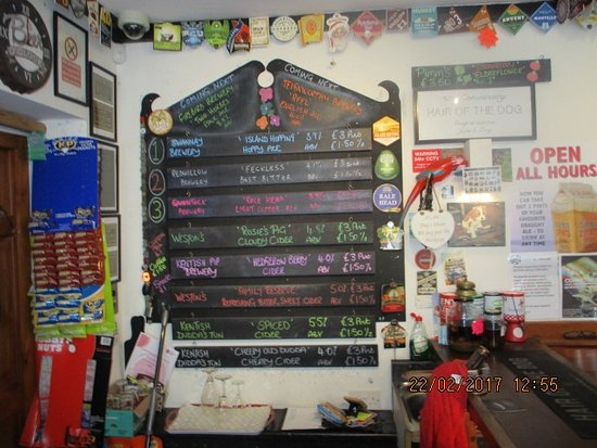 Minster, UK : The Range of 3 ales plus ciders on tap plus what is next at the top