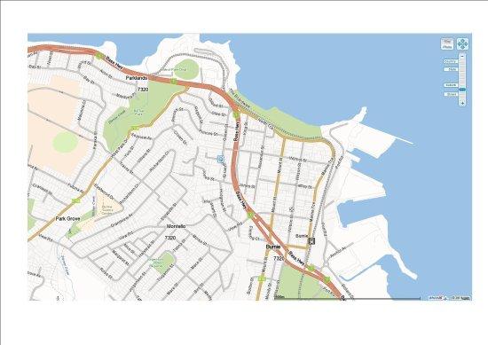 Burnie, Australia: Wellers Location Map