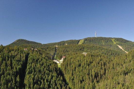 Pamporovo, Bulgarie : Hotel area