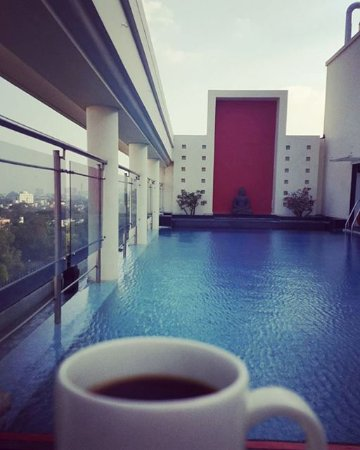 The Raintree Hotel, St.Mary's : Afternoon bliss, enjoying my coffee and the view at the roof top