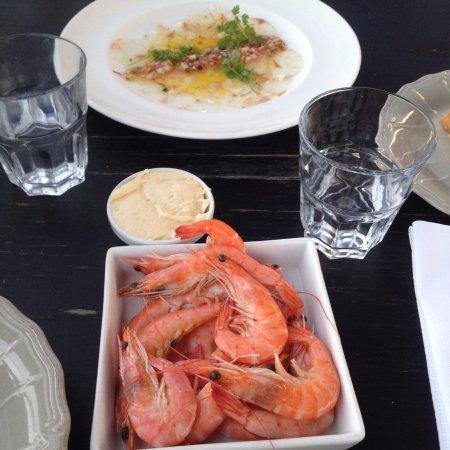 l'Houmeau, France : entrée crevettes
