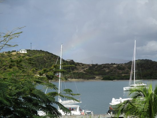 St. James's Club & Villas: View from room of bay with rainbow