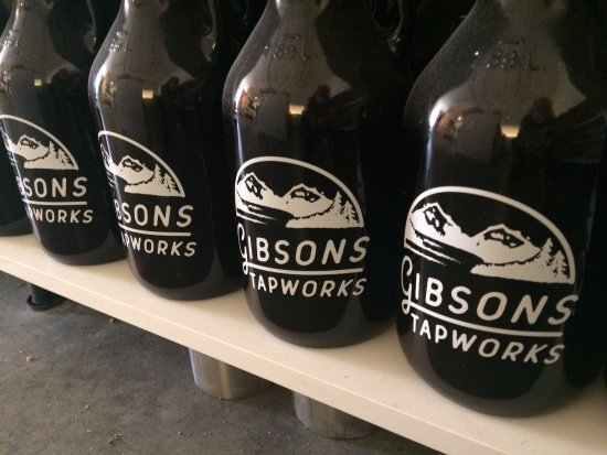 refillable growlers from Gibsons Tapworks