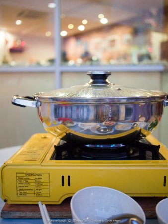 Mingyuan Seafood Steamboat Hotpot On Portable Gas Stove