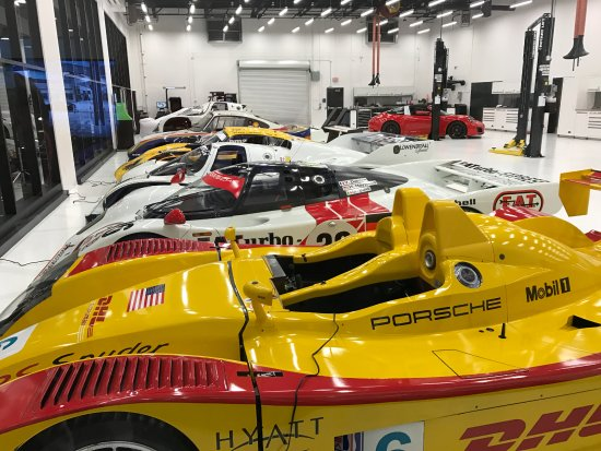 Carson, CA: Not a bad lineup of Porsche's finest race winning cars at Porsche Motorsports dept.