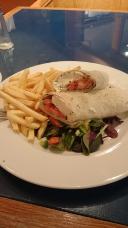 Mollington, UK: Mozarella wrap for lunch