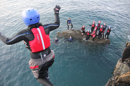 Dollar, UK: Make a splash on a Coasteering Trip!