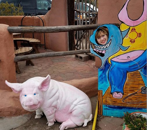 Mesilla, NM: Odd fishing pig thing here.